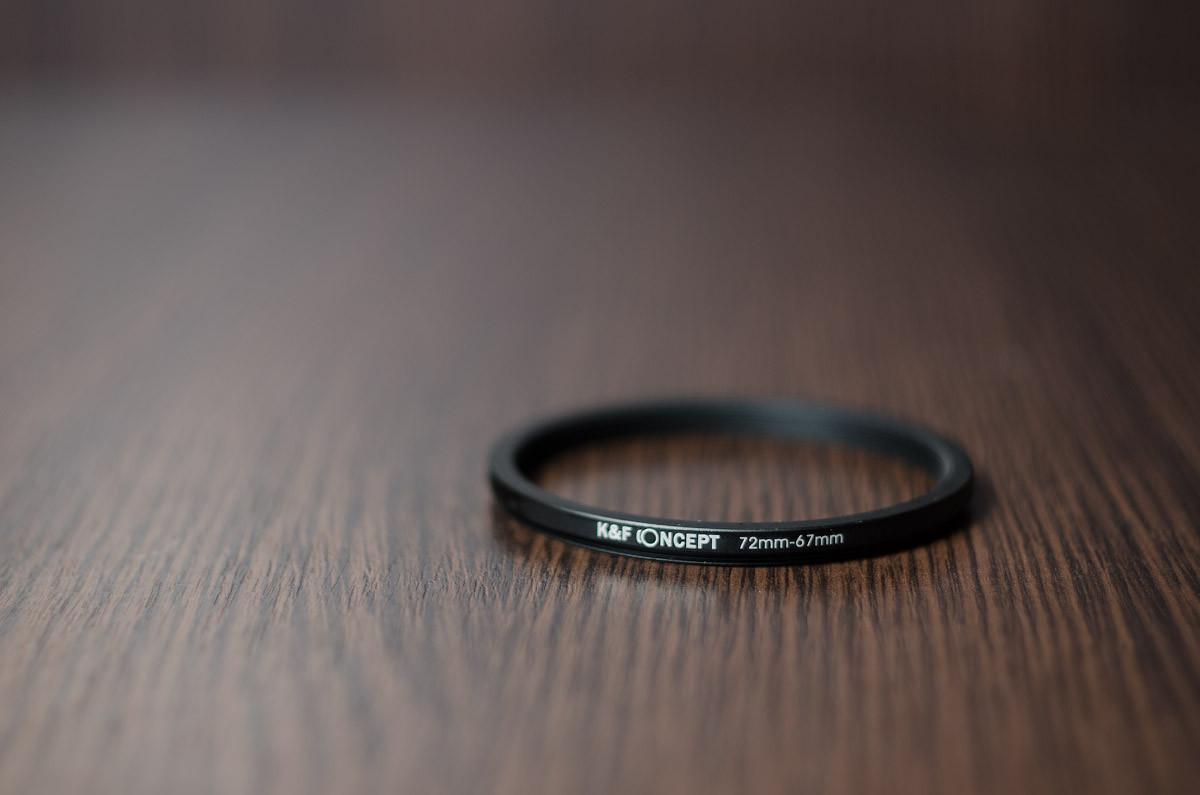 Переходное кольцо, понижающее (STEP DOWN)  72мм - 67мм  (K&F CONCEPT)