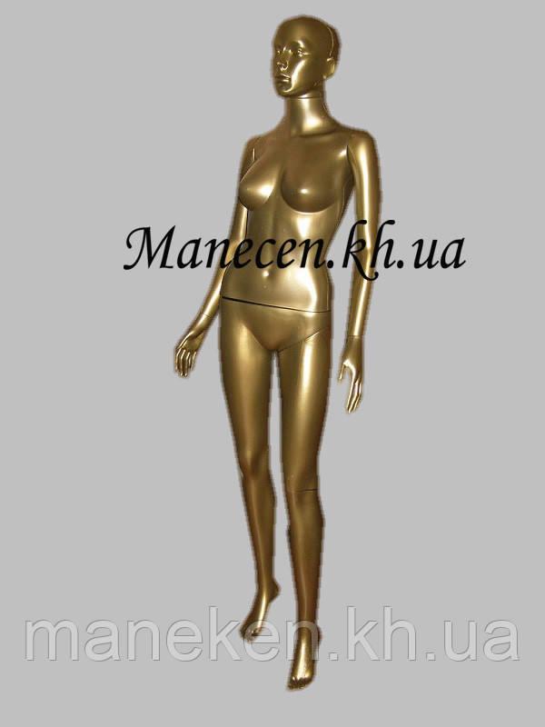 Манекен женский в полный рост Сиваян бронзовый