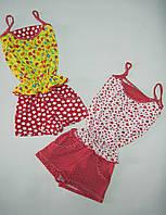 Летний костюмчик туника и шортики для девочки от1 года до 7лет