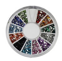 Карусель цветная дня ногтей