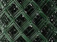 Сетка рабица с ПВХ покрытием 2,0*35*35мм/1,2м *10м зеленая BudmonsteR PRIME, фото 1
