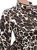 Облегающее леопардовое платье-миди (42), фото 3