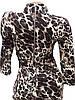 Облегающее леопардовое платье-миди (42), фото 4