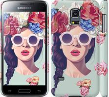 "Чехол на Samsung Galaxy S5 mini G800H Девушка с цветами ""2812c-44"""