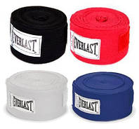 Бинт боксерский Everlast 3.5 метра: красный, синий, черный