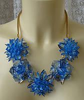 Ожерелье женское колье цветы ювелирная бижутерия 5817