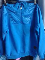 Кофта подростковая теплая синий 146-164
