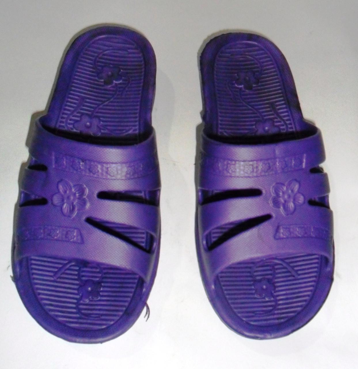 60d1f2f66 Шлепанцы женские резиновые(фиолетовые) - Интернет-магазин обуви и белья