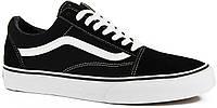 Черно-белые мужские кеды Vans Old Skool V077