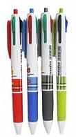 "Ручка 6804 4 цвета шар.""Fine"" с гриппом уп50"