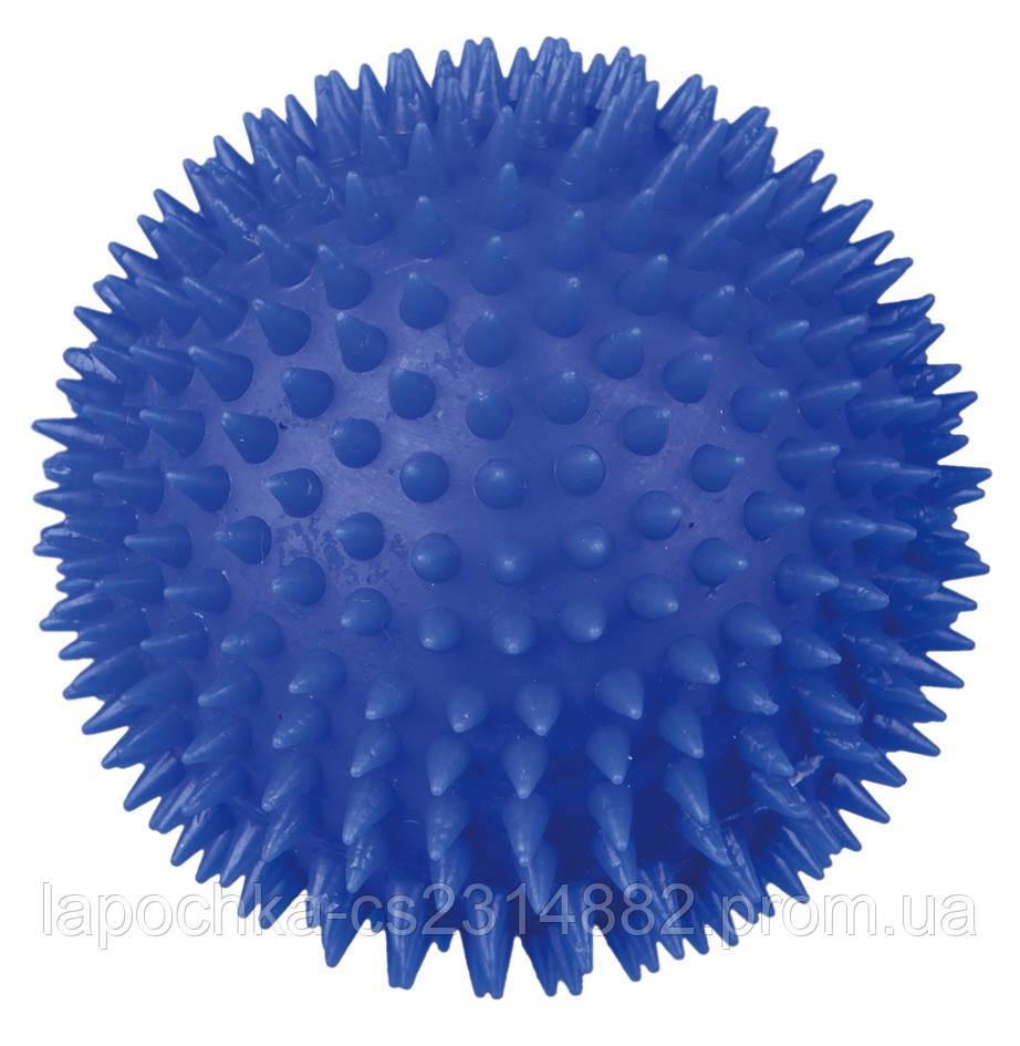 Игрушка для собак Trixie Мяч игольчатый с пищалкой, винил (цвета в ассортименте