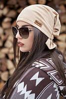 Женская весенняя шапка бандана из эко замша №155 (много цветов)