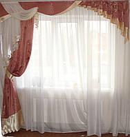 Жесткий ламбрекен Корона Розовый, фото 1