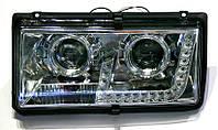 TeleMIX - Комплект блокфар на ВАЗ 2104-2105-2107 c линзами и дневными ходовыми огнями (ДХО), Tuning