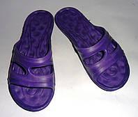 Женские шлепанцы ЕВА открытие (фиолетовые)