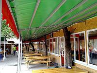 Тентовые покрытия из ткани ПВХ. Для ресторанов, кафе, летних площадок, навесов, шатров, ангаров