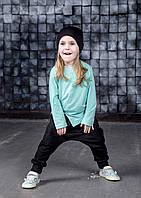 Демисезонные штанишки гаремы черные. Унисекс. Размеры: 98, 104 см, фото 1