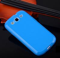 Силиконовый глянцевый голубой чехол Samsung Galaxy S3/S3 duos, фото 1