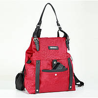 Модная сумка - рюкзак 2018, красная