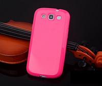 Силиконовый глянцевый малиновый чехол Samsung Galaxy S3/S3 duos, фото 1