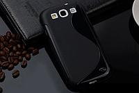 Силиконовый черный чехол Samsung Samsung Galaxy S3/S3 duos , фото 1
