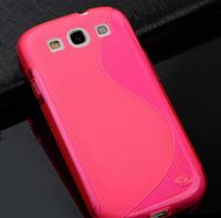 Силиконовый розовый чехол Samsung Samsung Galaxy S3/S3 duos