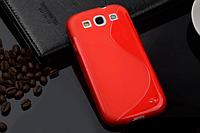 Силиконовый красный чехол Samsung Samsung Galaxy S3/S3 duos