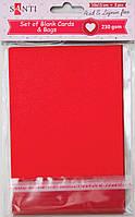 Набор красных заготовок для открыток 10см*15см, 230г/м2, 5шт. 952276