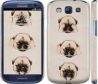 "Чехол на Samsung Galaxy S3 Duos I9300i Мопсики ""2884c-50"""