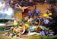 Пазл Castorland - Eugene Bidau, Изысканный натюрморт с цветами (Eugene Bidau, Copy of Elegant Still Life with Flowers)