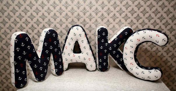 Декоративная подушка-буква  (Цена за 1 букву)