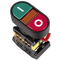 """Кнопка APВВ-22N """"I-O"""" d22мм неон/240В 1з+1р ИЭК"""