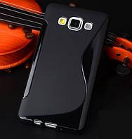 Силиконовый черный чехол для Samsung Galaxy A5