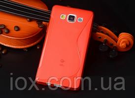 Силиконовый красный чехол для Samsung Galaxy A5