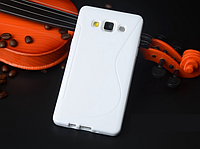 Силиконовый белый чехол для Samsung Galaxy A5