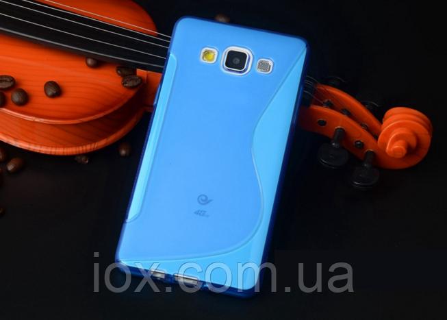 Силиконовый синий чехол для Samsung Galaxy A5