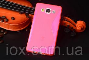 Силиконовый розовый чехол для Samsung Galaxy A3