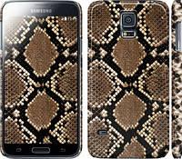 "Чехол на Samsung Galaxy S5 Duos SM G900FD Кожа змеи ""901c-62"""