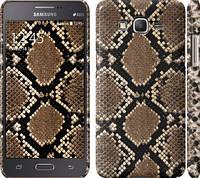 "Чехол на Samsung Galaxy Grand Prime G530H Кожа змеи ""901c-74"""