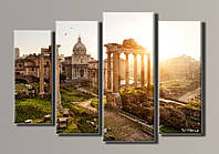 "Модульная картина на холсте из 4-х частей ""Рим"""