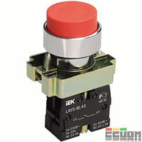 Кнопка управления LAY5-BL42 без подсветки красная 1р ИЭК