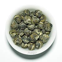 Китайский зеленый чай Жасминовая жемчужина. Упаковка - 50 г