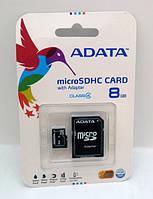 Карта памяти A-DATA  8Gb microSDHC Class 4 + SD-adapter