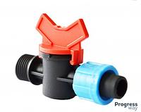 Кран стартовый резьба наружная 1/2 для пластиковой трубы КСН 17*1/2(SL-011-1)