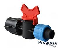 Кран стартовый резьба внутренняя 1/2 для пластиковой трубы КСВ 17*1/2(SL-011-11)