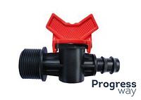 Кран стартовый резьба наружная для пластиковой трубы КСН 16*1/2(SL-011-7)