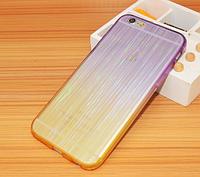 Фиолетовый силиконовый переливающийся чехол для Iphone 6