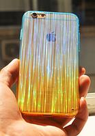 Голубой силиконовый переливающийся чехол для Iphone 6