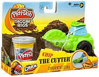 """Игровой набор пластилина Hasbro """"Машинка для строительства дорог"""" зеленая Play-Doh"""