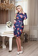 Женское платье-футляр из французского трикотажа